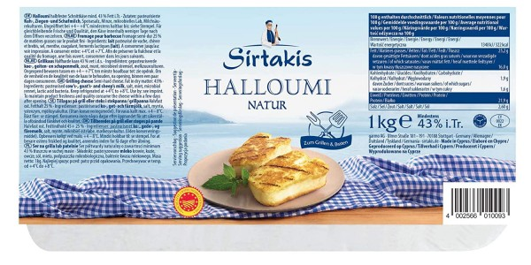 Halloumi 43% Fett (1kg) Sirtakis