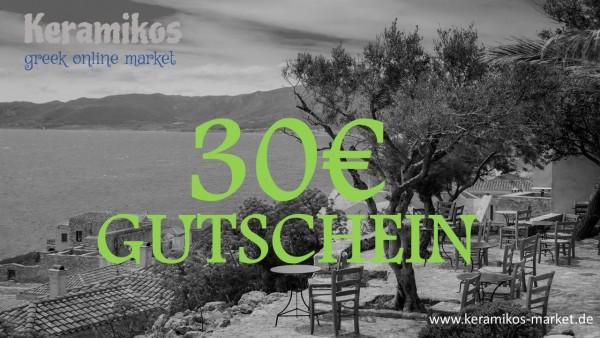 30€ - Geschenkgutschein
