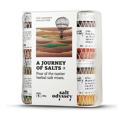 Gewürz- und Kräutersalze (4x80g) Salt Odyssey